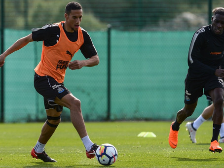 Isaac Hayden on the training camp in Spain