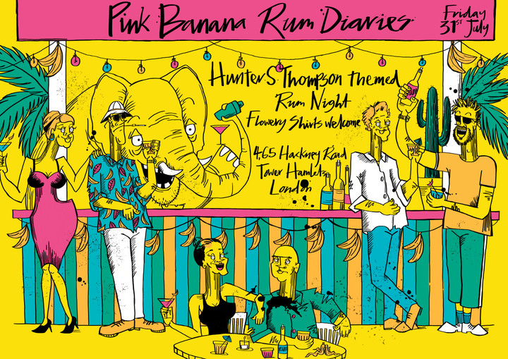 Pink Banana Studios Event Invite