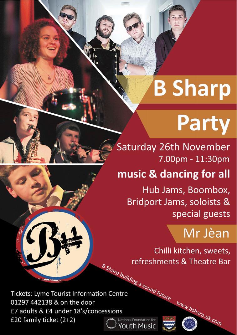 B Sharp Event Poster