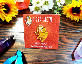 Pizza Sloth Enamel Pin Listing 1.jpg