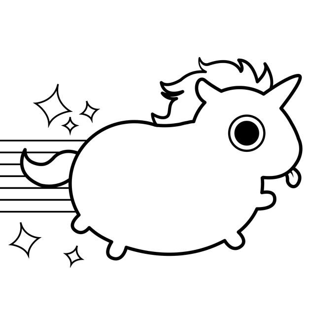 Treats the Unicorn Coloring Page