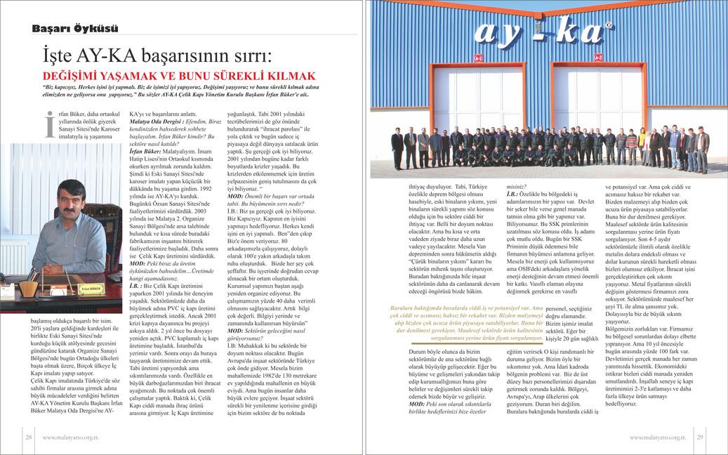 Oda Dergisi Yönetim Kurulu Başkanımızın Ropörtajı