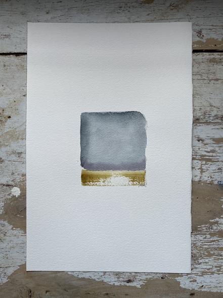 «HORIZON (2)» 30x20 cm aquarelle végétale sur papier coton.HEIC