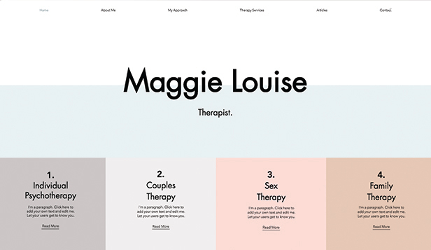 Helse og velvære website templates – Therapy Services