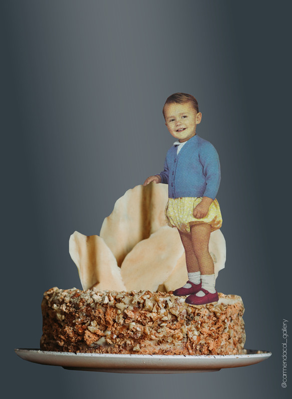 BLUE BOY ON CAKE