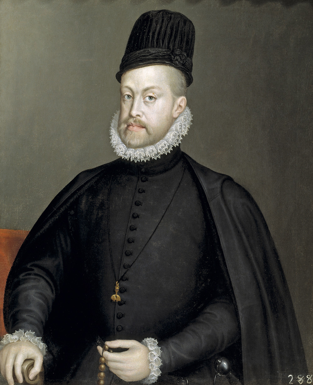 portrait Felipe II negro black singular history fashion history