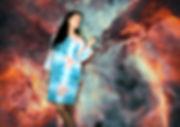 vestido en lino fibras naturales shibori