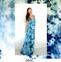 Vestido Nebulosa Azul