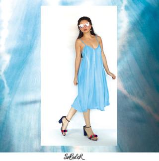 Vestido Cocun Talla S Shibori Moda Sostenible Hecho a Mano en Colombia  Disponible Online