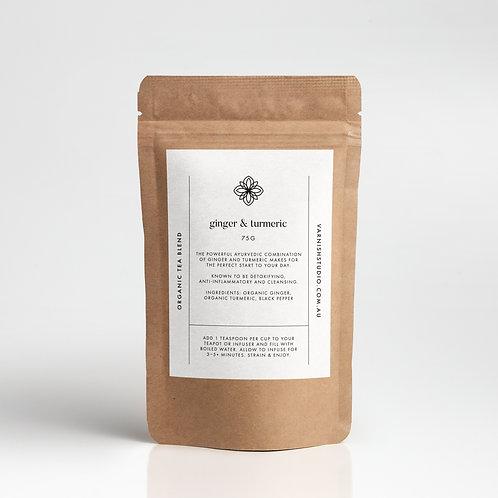 Organic Ginger and Turmeric Loose Leaf Tea