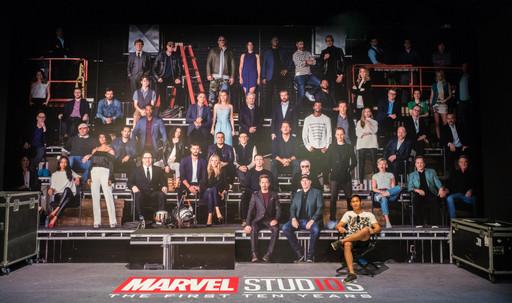 Cast of 10 Years Marvel Studios