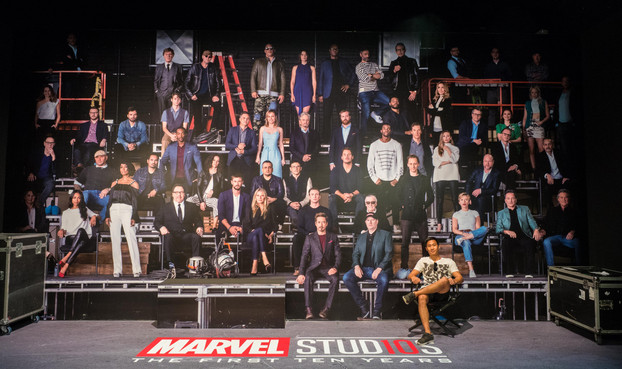 Cast of 10 Years Marvel Studios