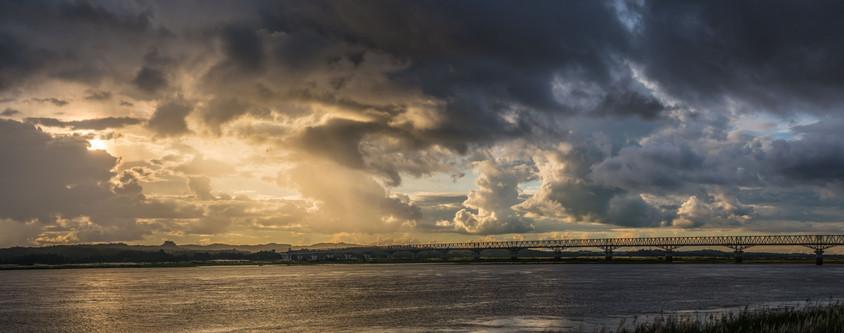 Sunset at the Arrawaddy Bridge