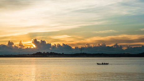 Sunset @ the Irrawaddy River