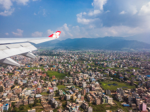 Arriving Kathmandu Airport