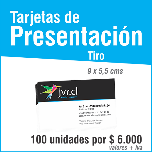 Tarjeta de Presentación Tiro