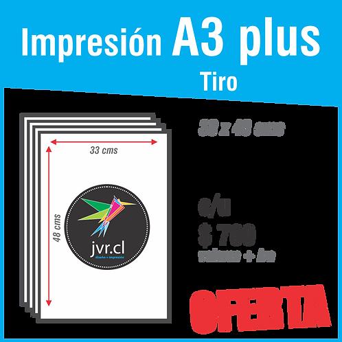 Impresión A3 plus Tiro