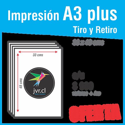 Impresión A3 plus Tiro / Retiro