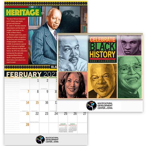 Celebrate Black History 2021 Wall Calendar