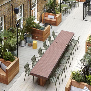 Roof Garden at TOG Wimpole St, W1G