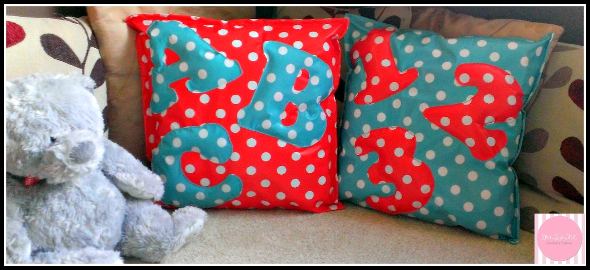 Wipe clean fun ABC/ 123 cushions