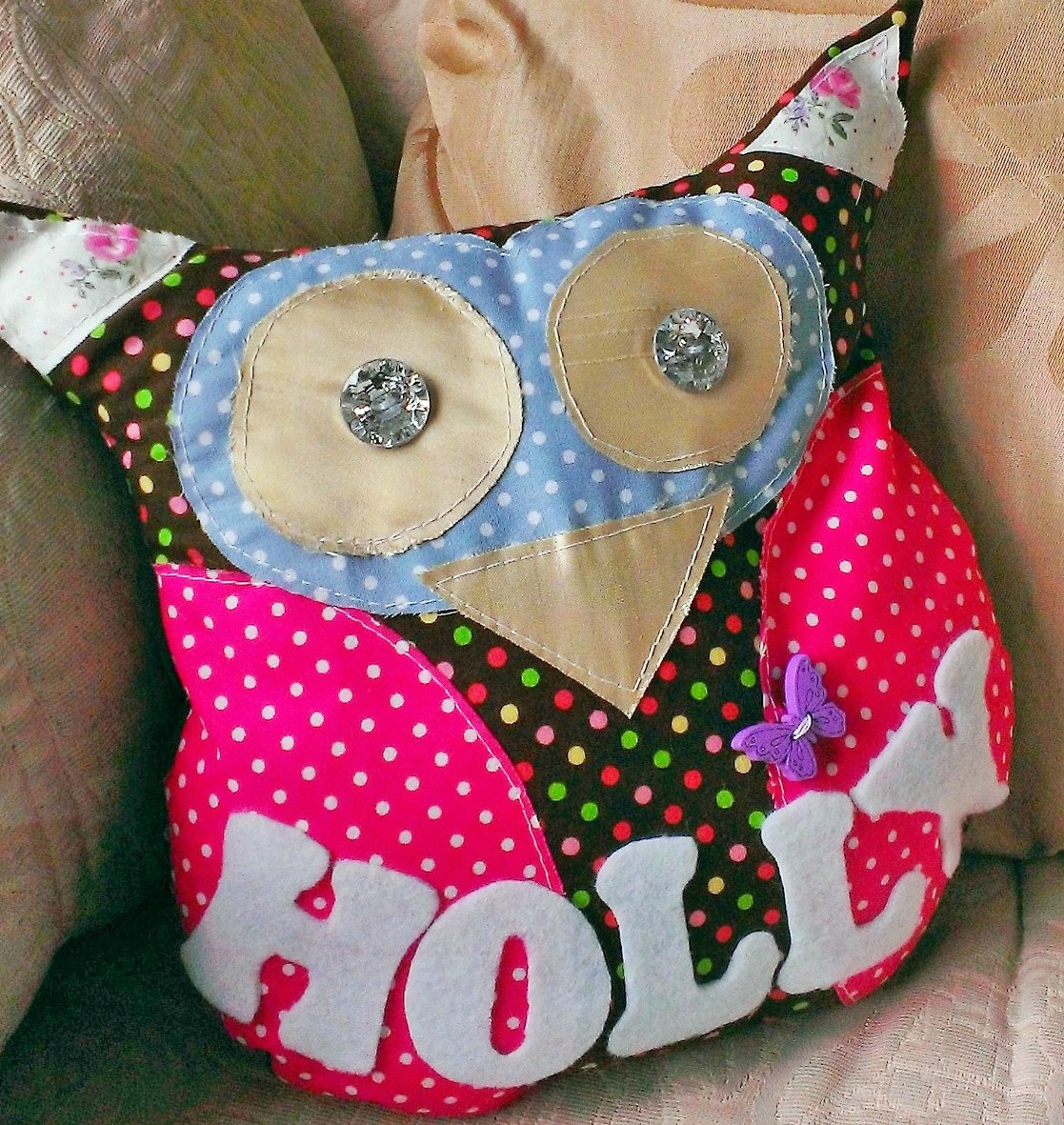Personalised Owl Cushions