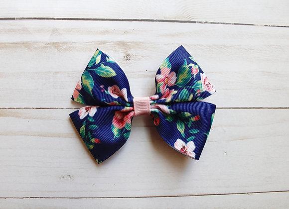 Floral Print Hair Bow