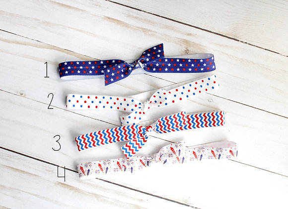 Patriotic Elastic Headbands