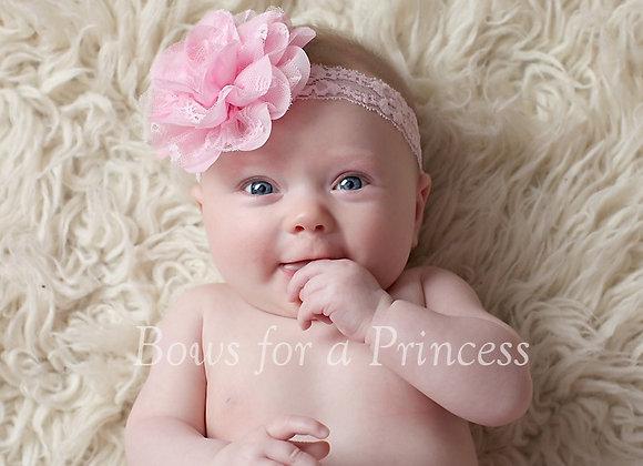 Large Pink Lace Headband