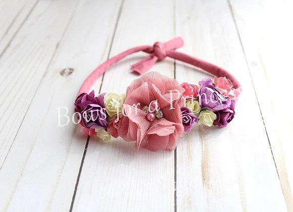 Mauve & Lavender Tie Back Headband