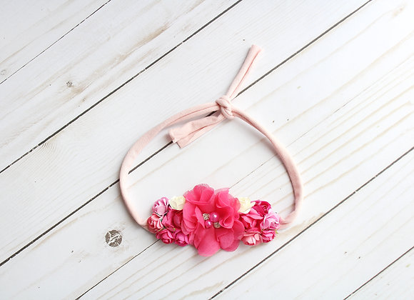 Pink & Hot Pink Tie Back Headband