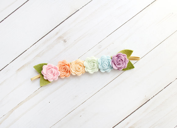 Small Pastel Felt Flower Headband