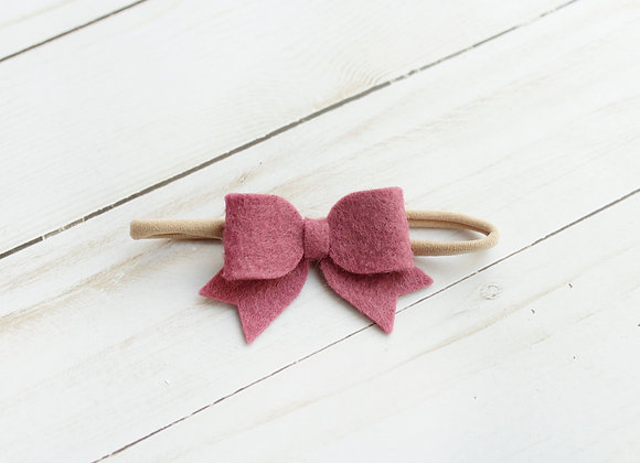 Mulberry Baby Sailor Felt Hair Bow