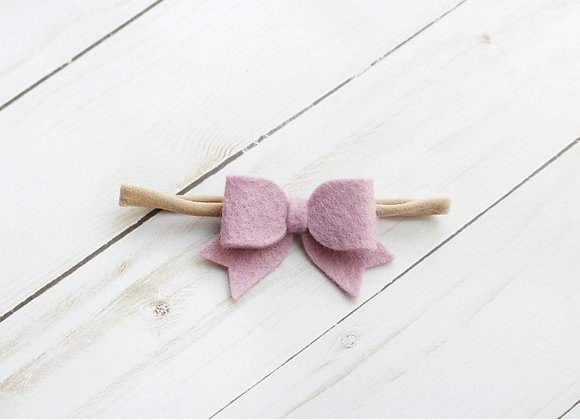 Lilac Baby Sailor Felt Hair Bow
