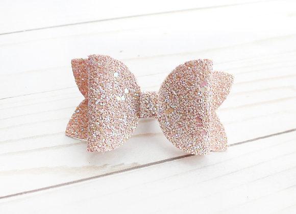 Pink Glitter Hair Bow