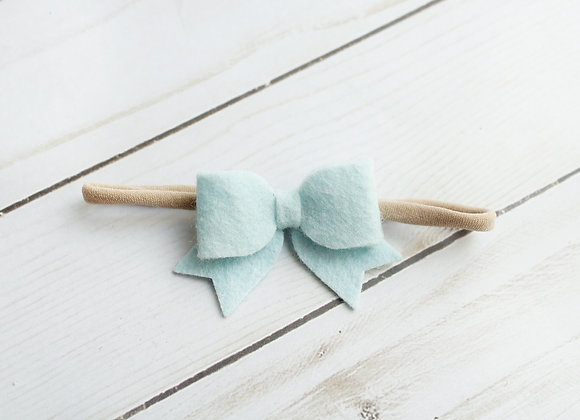 Light Blue Baby Sailor Felt Hair Bow