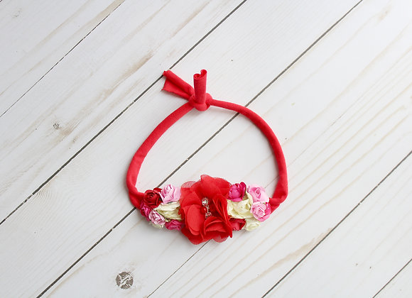 Valentine Red Tie Back Headband