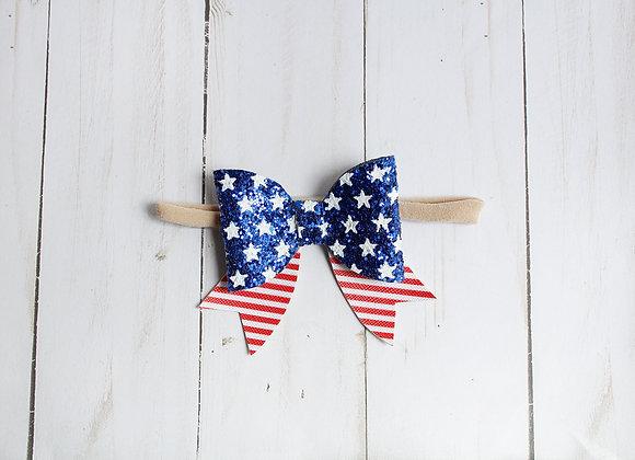 July 4th Sailor Bow Headband