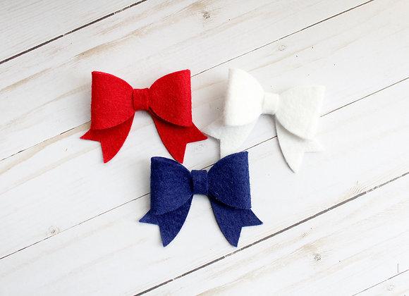 July 4th Sailor Hair Bow