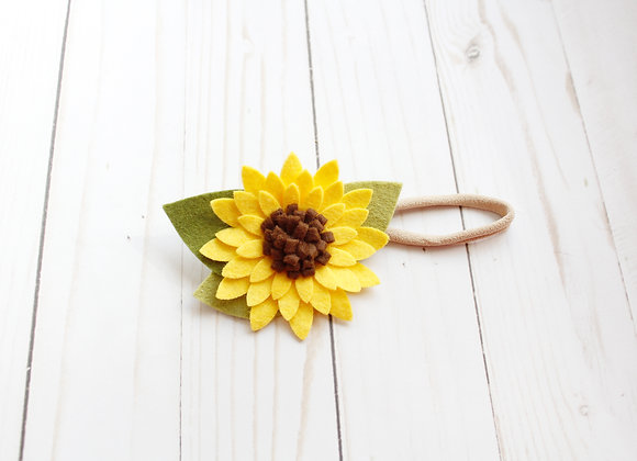 Sunflower Felt Headband