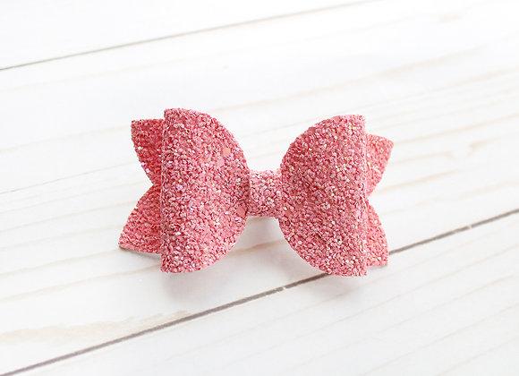 Hot Pink Chunky Glitter Hair Bow