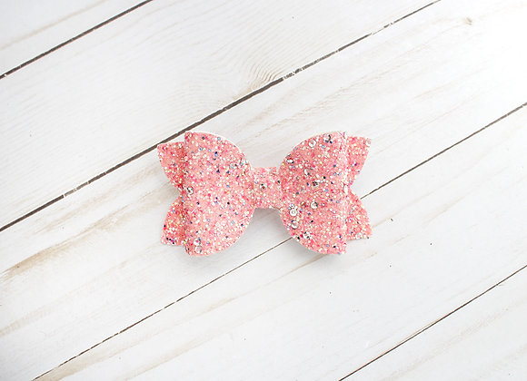 Pink and Silver Sequin Hair Bow