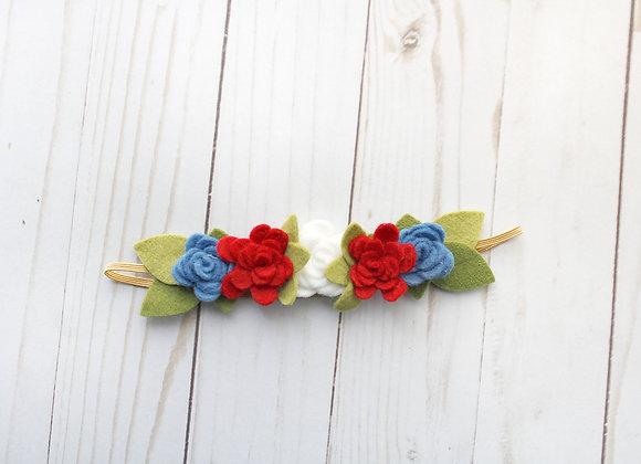 Patriotic Felt Flower Headband