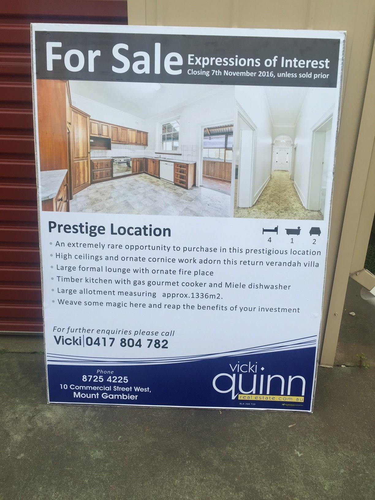 Vicki Quinn Real Estate Corflute