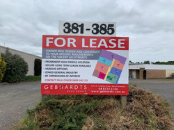Gebhardts For Lease Sign