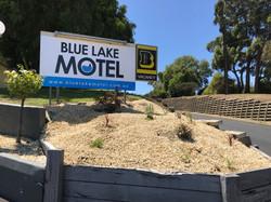 Blue Lake Motel Signage