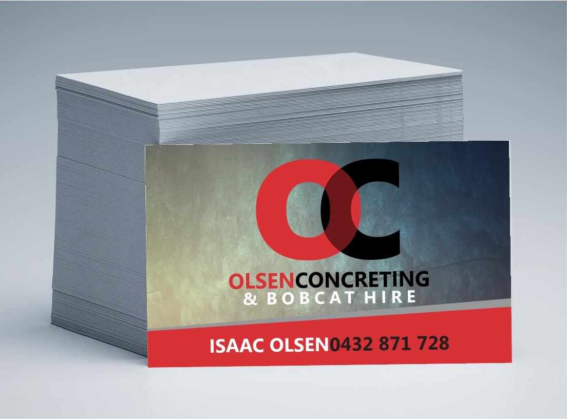 Olsen Concreting Business Cards