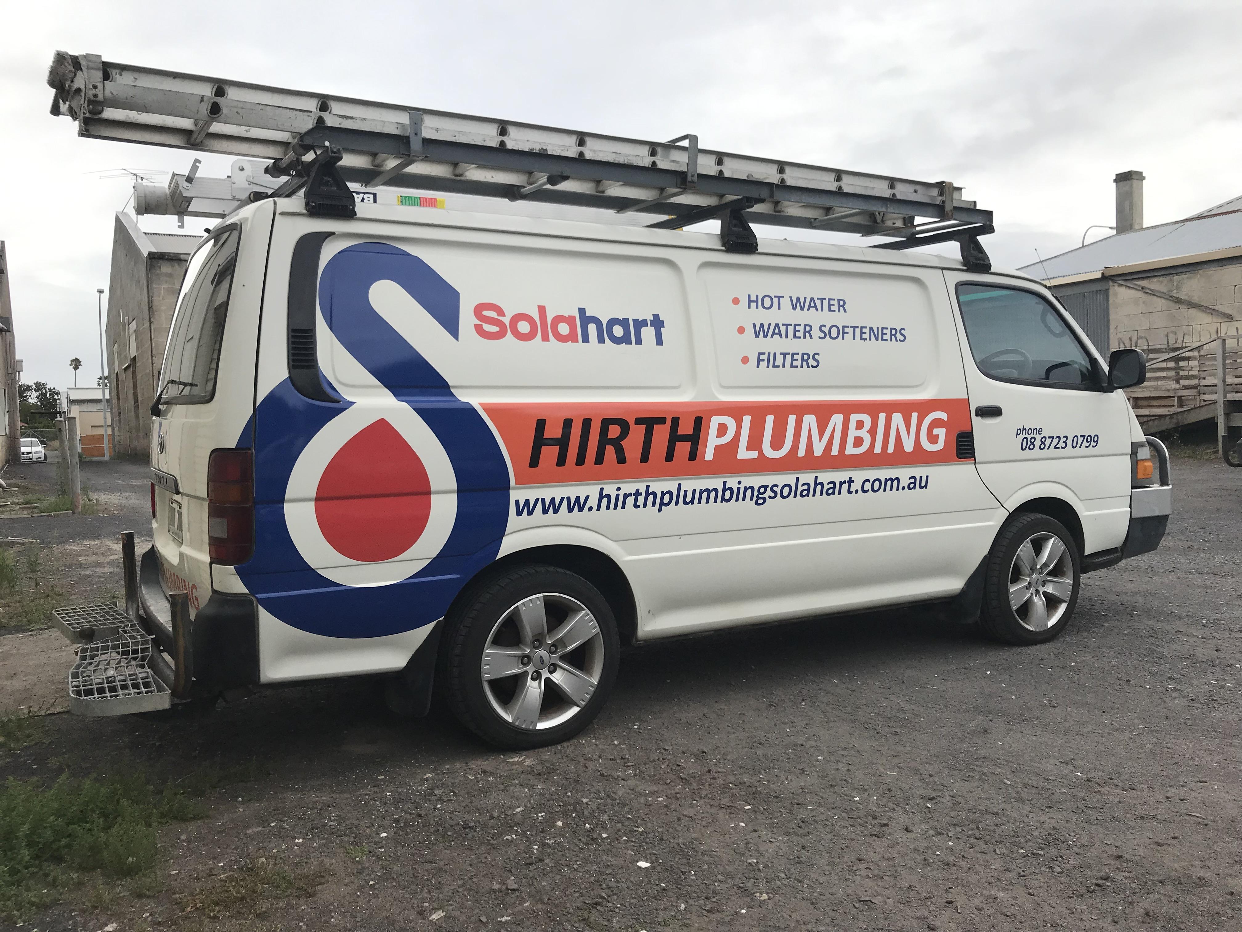 Hirth Plumbing Van Signage