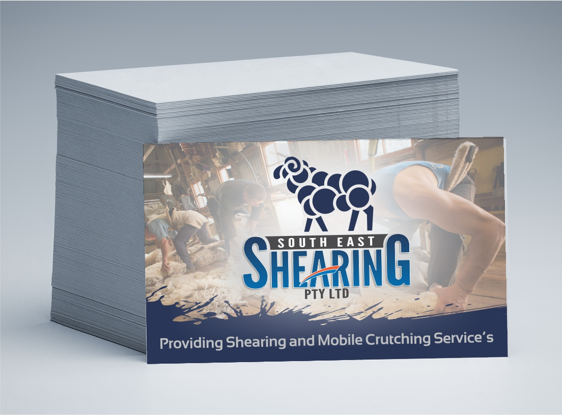 South East Shearing Business Cards