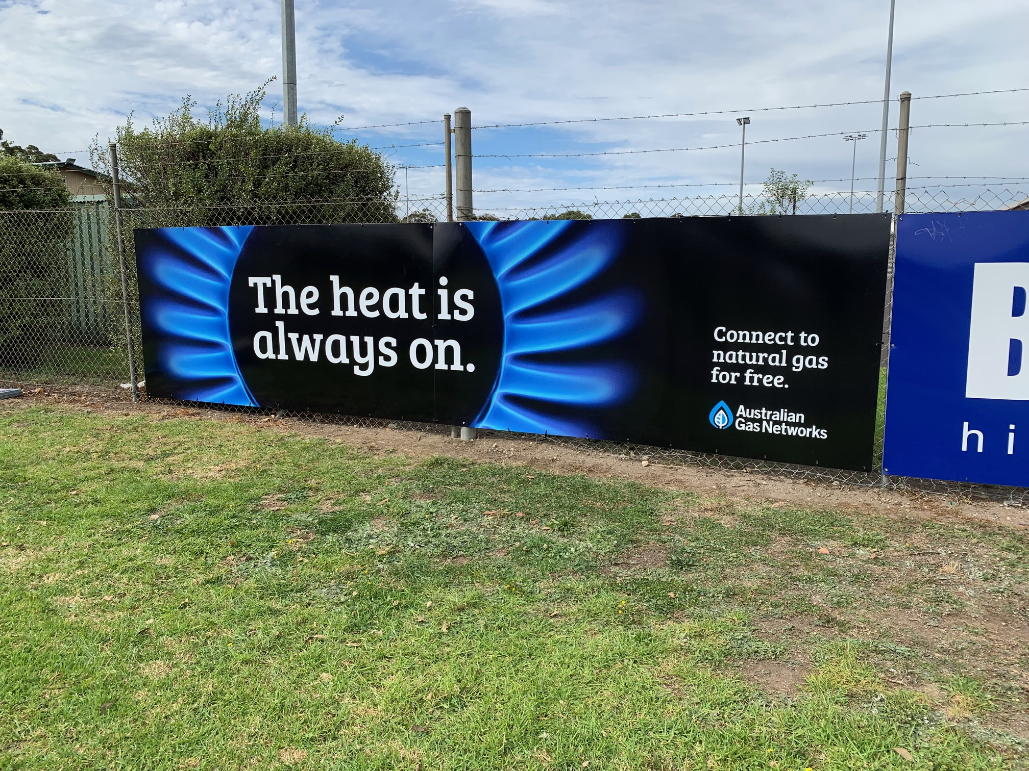 Australian Gas Networks Fence Signage